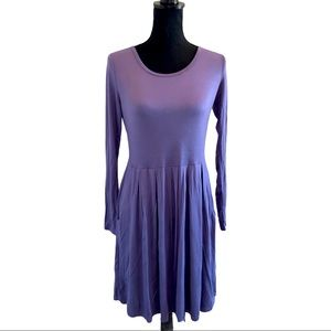 NWT AUSELILY Long Sleeve Pleated Dress Size S